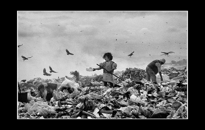 Families living on a giant rubbish tip in Brazil