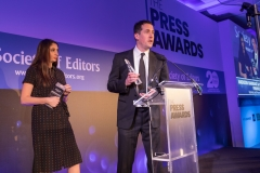 The winners of Business & Finance Journalist of the Year Madison Marriage & Matthew Garrahan