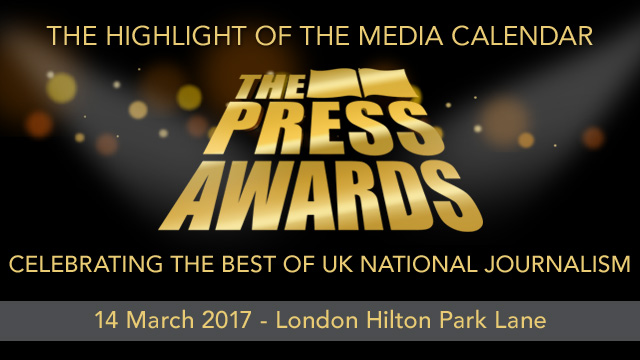 National Press Awards - 2017