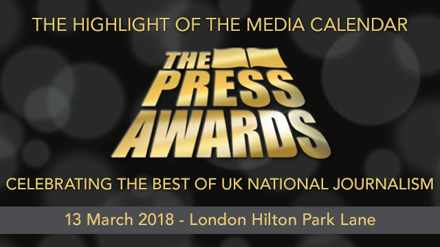 National Press Awards Banner
