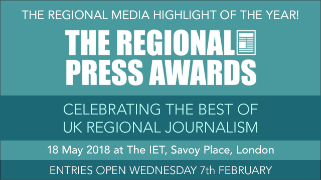 Regional Press Awards Banner