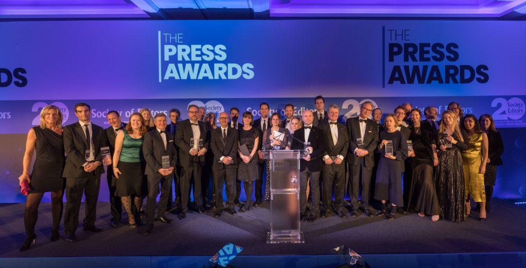 Press Award winners for 2018